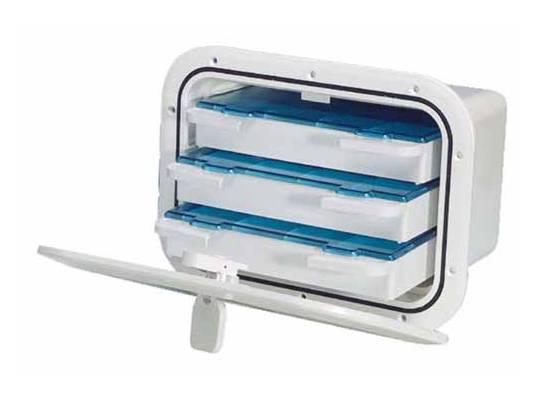Cajón empotrable con compartimentos