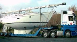 Traslado de veleros