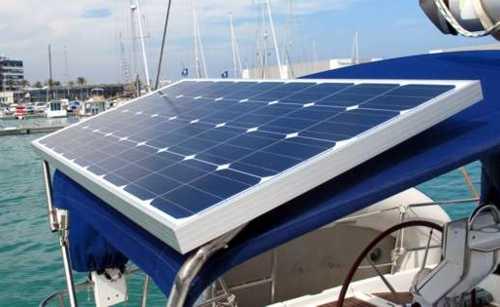 Paneles Solares en el barco